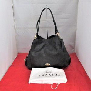 COACH 57125  Pebbled Leather Edie 31 Shoulder Bag
